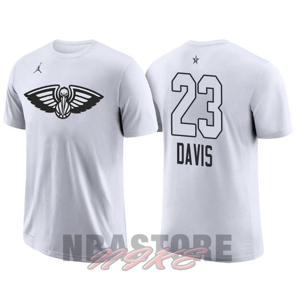 Maglia NBA 2018 All Star Manica Corta NO.23 Anthony Davis Bianco