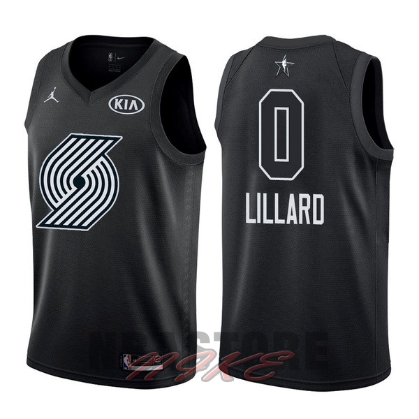 Maglia NBA 2018 All Star NO.0 Damian Lillard Nero