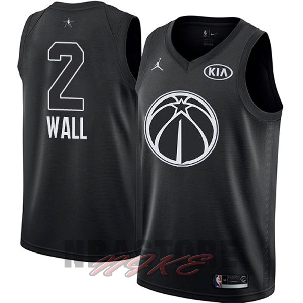 Maglia NBA 2018 All Star NO.2 John Wall Nero