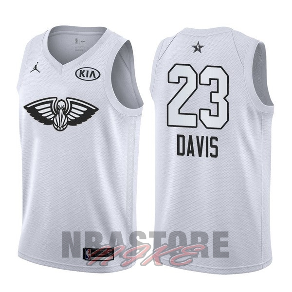 Maglia NBA 2018 All Star NO.23 Anthony Davis Bianco