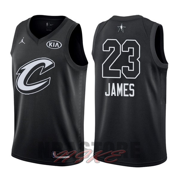 Maglia NBA 2018 All Star NO.23 LeBron James Nero