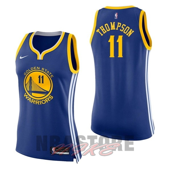 Maglia NBA Donna Golden State Warriors NO.11 Klay Thompson Blu Icon