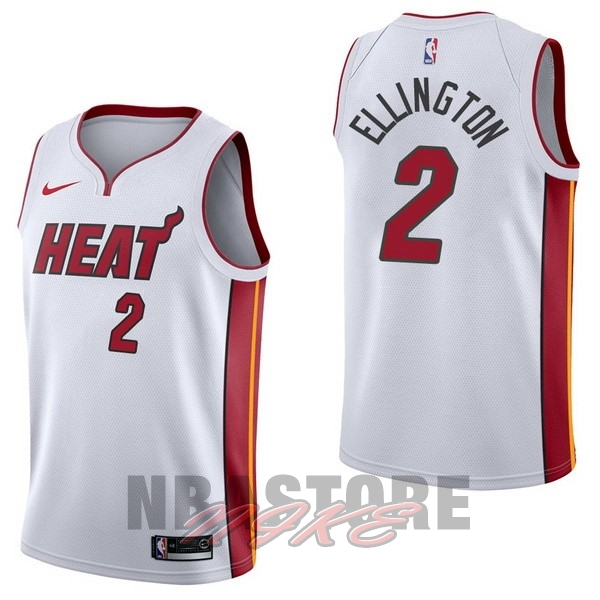 Maglia NBA Nike Miami Heat NO.2 Wayne Ellington Bianco Association