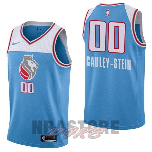 Maglia NBA Nike Sacramento Kings NO.0 Willie Cauley Stein Nike Blu Città