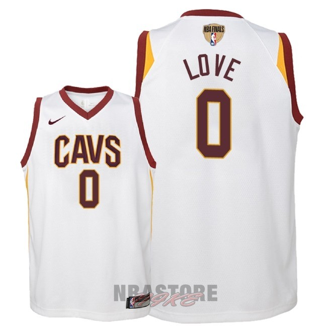 Maglia NBA Bambino Cleveland Cavaliers Finale Campioni 2018 NO.0 Kevin Love Bianco Association Patch