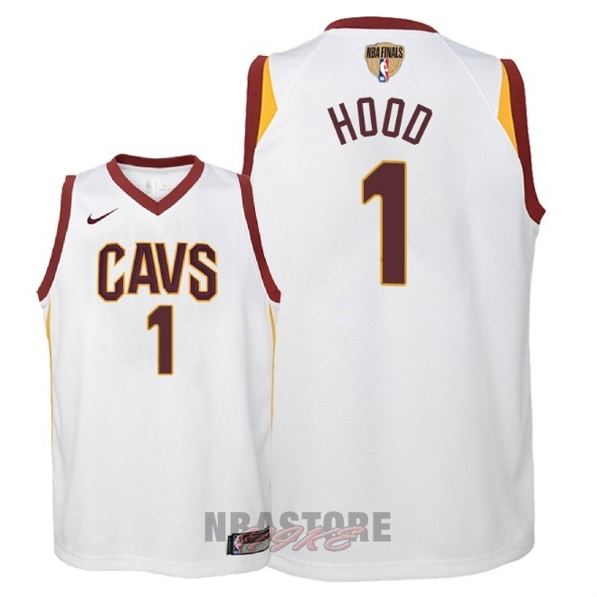 Maglia NBA Bambino Cleveland Cavaliers Finale Campioni 2018 NO.1 Rodney Hood Bianco Association Patch