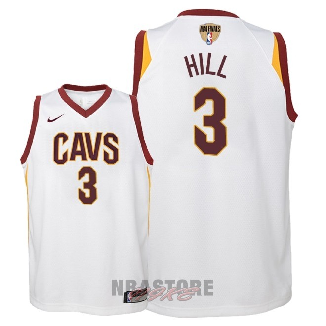 Maglia NBA Bambino Cleveland Cavaliers Finale Campioni 2018 NO.3 George Hill Bianco Association Patch