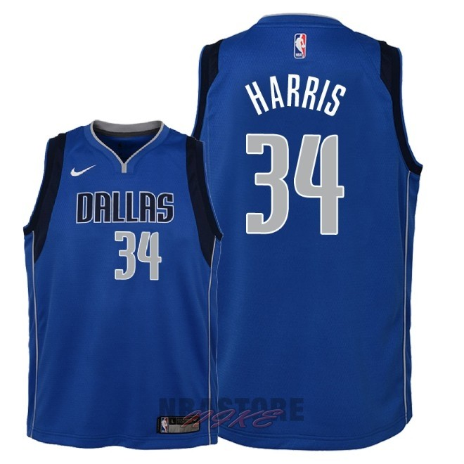 Maglia NBA Bambino Dallas Mavericks NO.34 Devin Harris Blu Icon 2018
