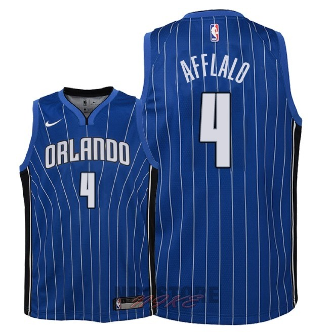 Maglia NBA Bambino Orlando Magic NO.4 Arron Afflalo Blu Icon 2018