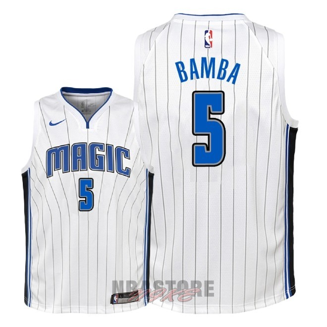 Maglia NBA Bambino Orlando Magic NO.5 Mohamed Bamba Bianco Association 2018