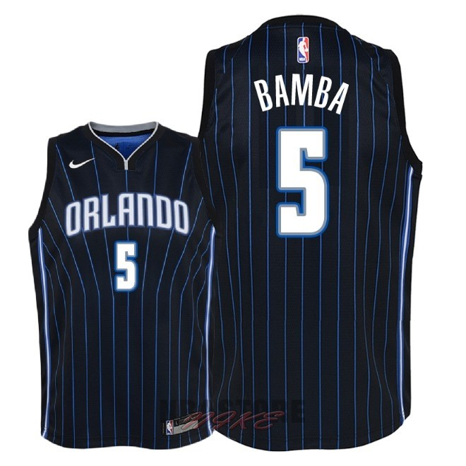 Maglia NBA Bambino Orlando Magic NO.5 Mohamed Bamba Nero Statement 2018