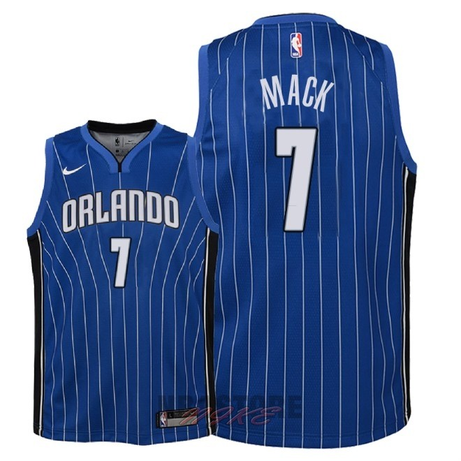 Maglia NBA Bambino Orlando Magic NO.7 Shelvin Mack Blu Icon 2018