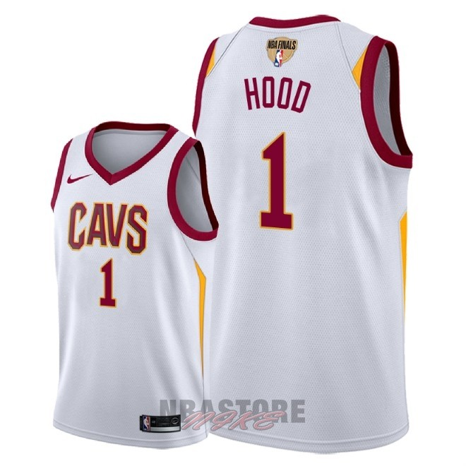 Maglia NBA Cleveland Cavaliers 2018 Campionato Finali NO.1 Rodney Hood Bianco Association Patch