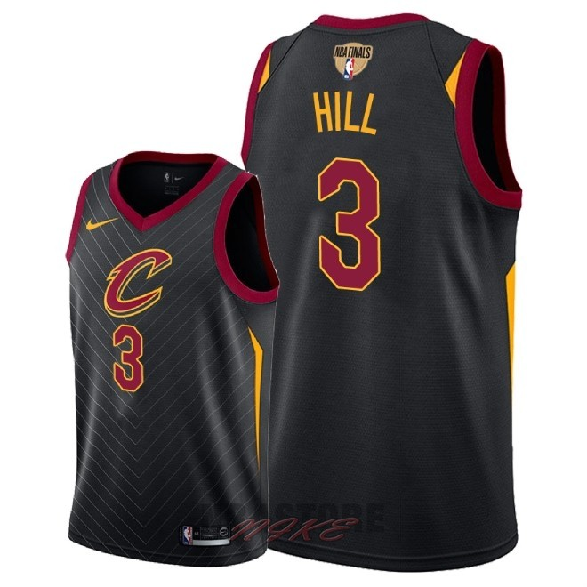 Maglia NBA Cleveland Cavaliers 2018 Campionato Finali NO.3 George Hill Nero Statement Patch