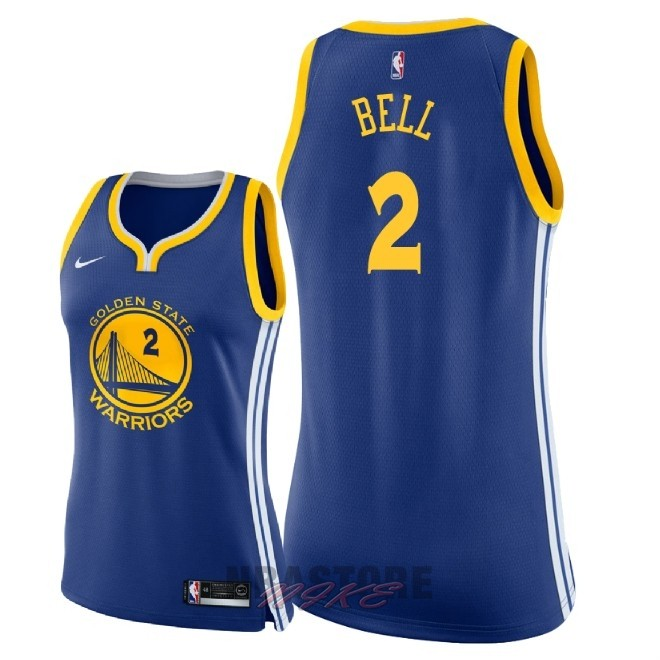 Maglia NBA Donna Golden State Warriors NO.2 Jordan Bell Blu Icon 2018