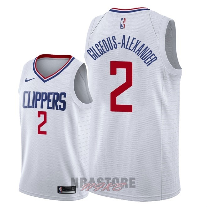 Maglia NBA Nike Los Angeles Clippers NO.2 Shai Gilgeous Alexander Bianco Association 2018