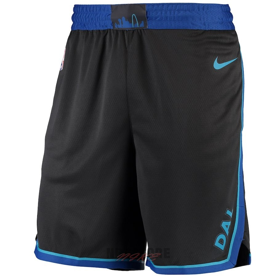 Pantaloni Basket Dallas Mavericks Nike Antracite Città 2018-19