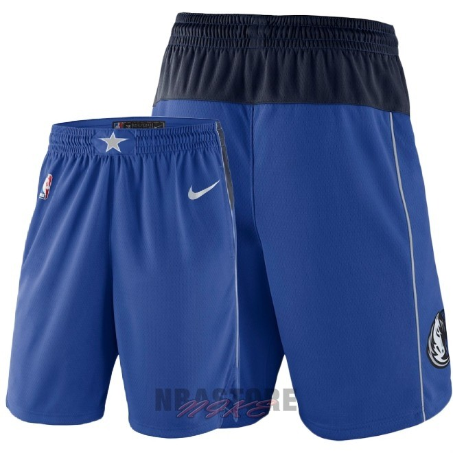 Pantaloni Basket Dallas Mavericks Nike Blu 2018
