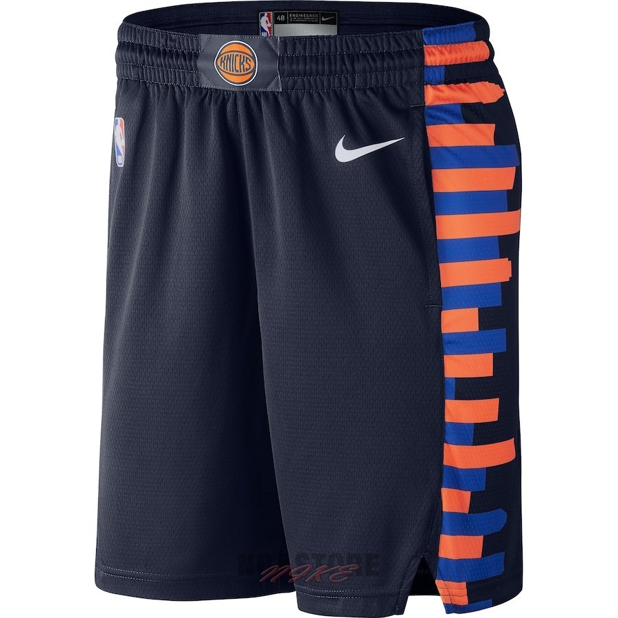 Pantaloni Basket New York Knicks Nike Marino Città 2018-19