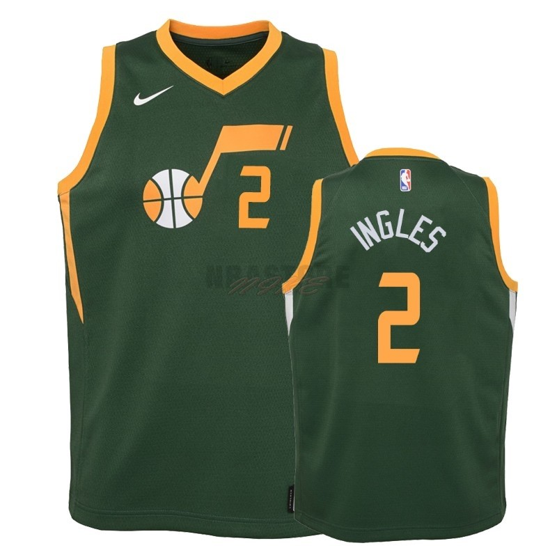 Maglia NBA Bambino Earned Edition Utah Jazz NO.2 Joe Ingles Verde 2018-19