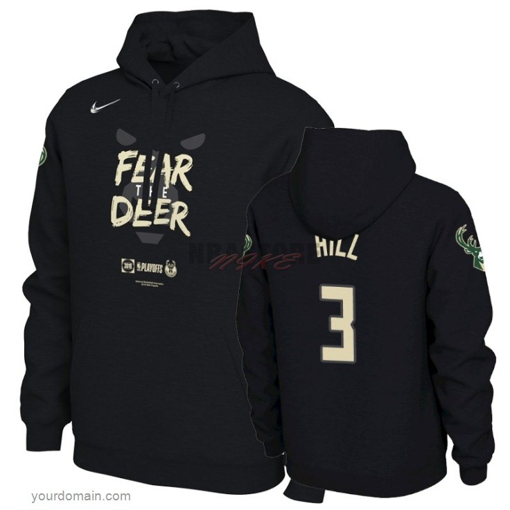 Felpe Con Cappuccio NBA Milwaukee Bucks NO.3 George Hill Nero