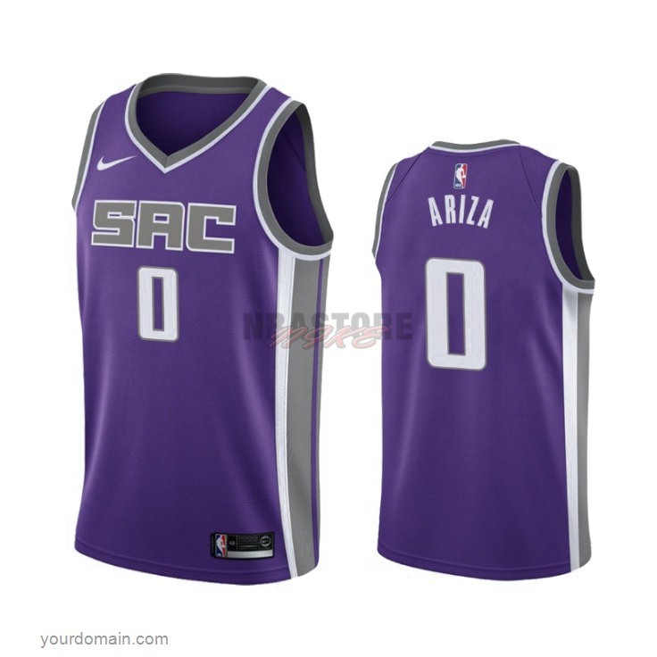 Maglia NBA Nike Sacramento Kings NO.0 Trevor Ariza Porpora Icon 2019-20