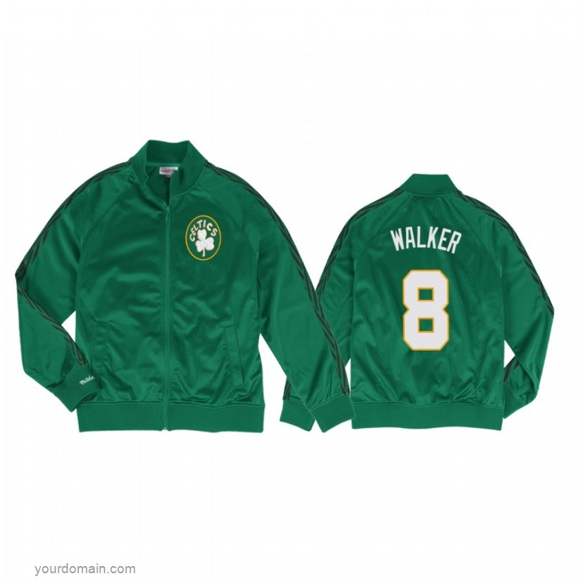 Giacca NBA Boston Celtics NO.8 Kemba Walker Verde