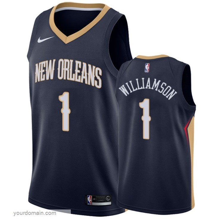 Maglia NBA Nike New Orleans Pelicans NO.1 Zion Williamson Marino Icon