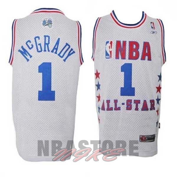Maglia NBA 2003 All Star NO.1 Tracy McGrady Bianco