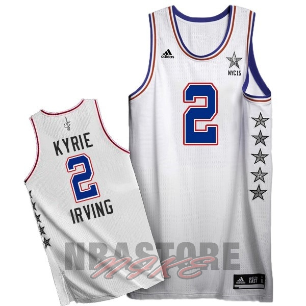Maglia NBA 2015 All Star NO.2 Kyrie Irving Bianco