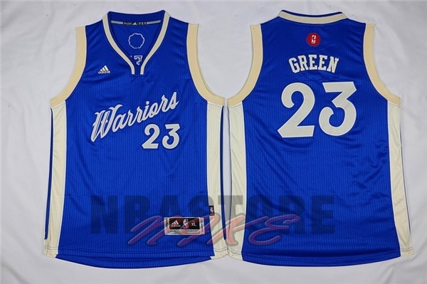 Maglia NBA Bambino 2015 Natale Golden State Warriors NO.23 Draymond Green Blu