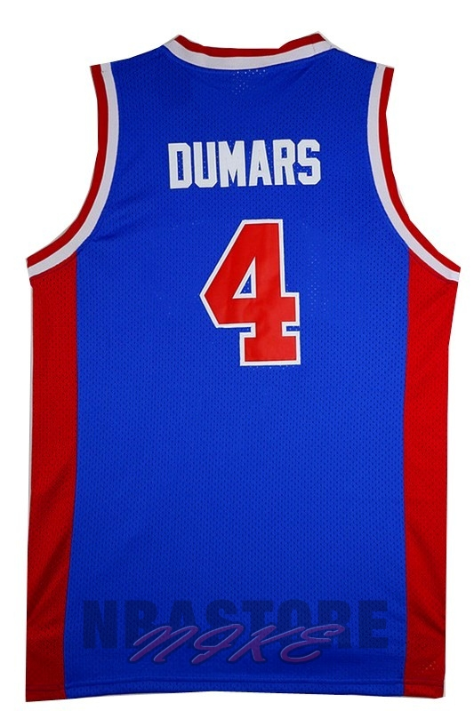 Maglia NBA Detroit Pistons NO.4 Joe Dumars Retro Blu