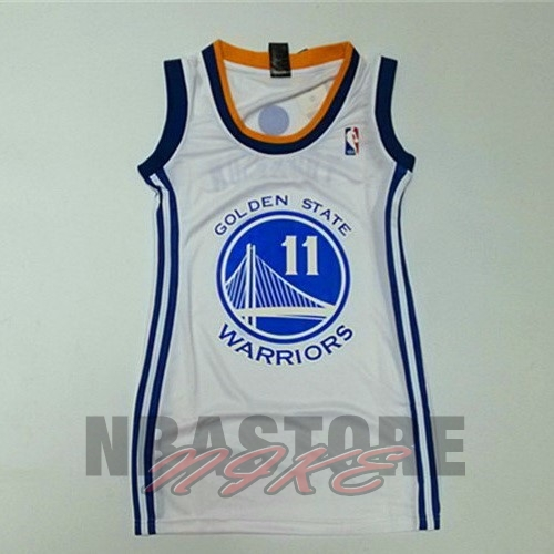 Maglia NBA Donna Golden State Warriors NO.11 Klay Thompson Bianco