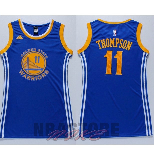 Maglia NBA Donna Golden State Warriors NO.11 Klay Thompson Blu