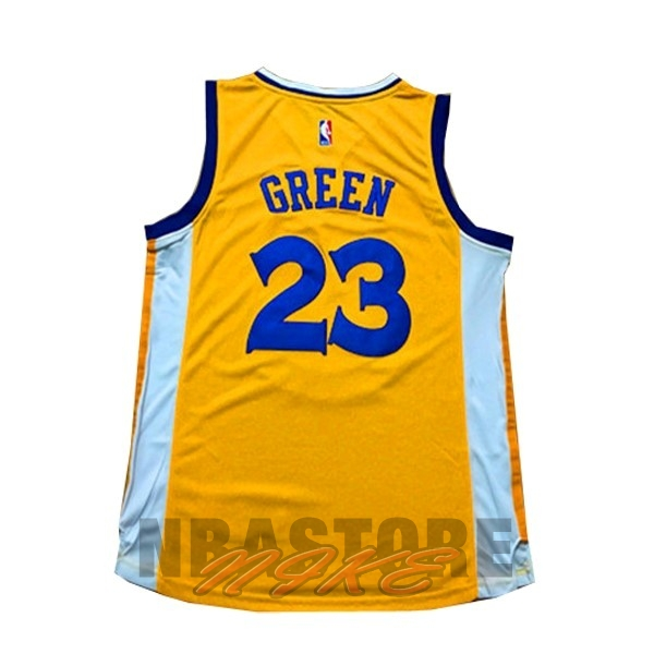 Maglia NBA Donna Golden State Warriors NO.23 Draymond Green Giallo