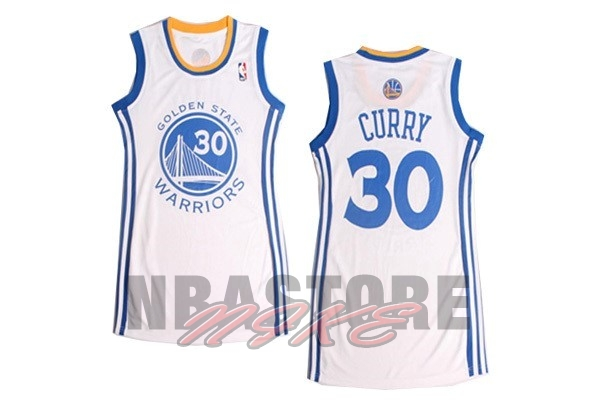 Maglia NBA Donna Golden State Warriors NO.30 Stephen Curry Bianco