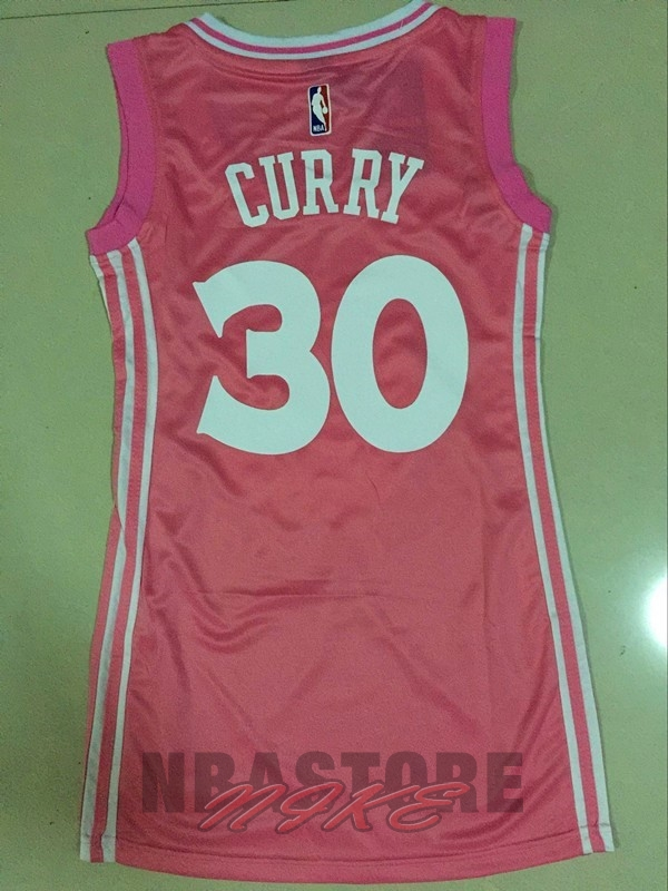 Maglia NBA Donna Golden State Warriors NO.30 Stephen Curry Rose