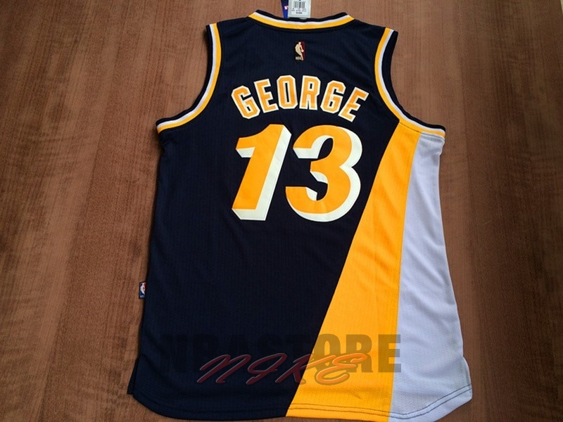 Maglia NBA Indiana Pacers NO.13 Paul George Retro Nero
