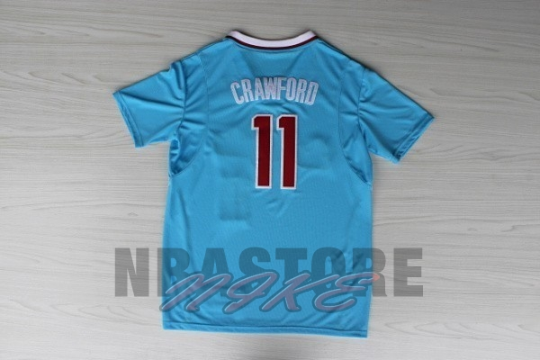 Maglia NBA Los Angeles Clippers Manica Corta NO.11 Jamal Crawford Blu