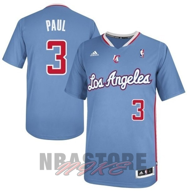 Maglia NBA Los Angeles Clippers Manica Corta NO.3 Chris Paul Blu