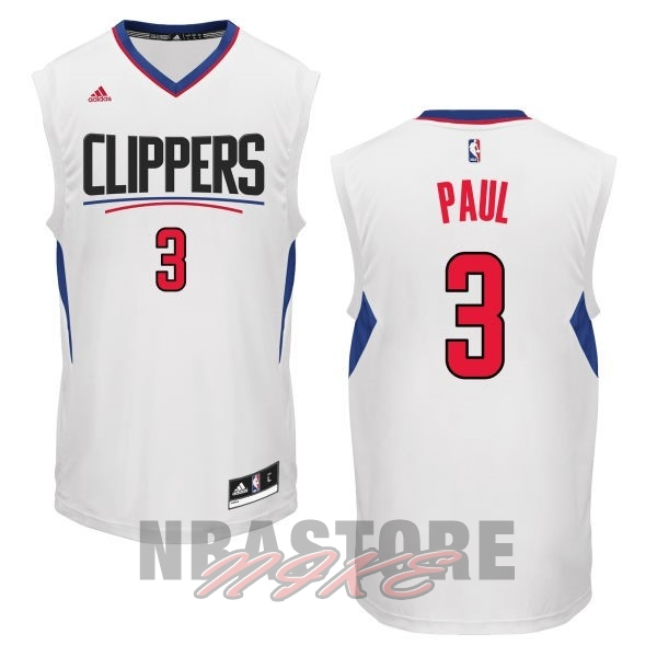 Maglia NBA Los Angeles Clippers NO.3 Chris Paul Bianco