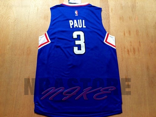 Maglia NBA Los Angeles Clippers NO.3 Chris Paul Blu