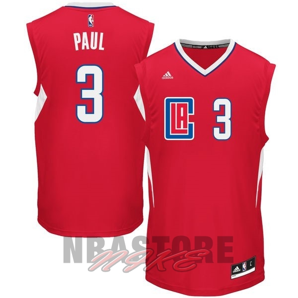 Maglia NBA Los Angeles Clippers NO.3 Chris Paul Rosso