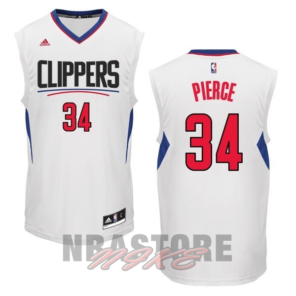 Maglia NBA Los Angeles Clippers NO.34 Paul Pierce Bianco