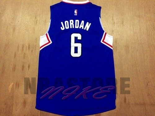Maglia NBA Los Angeles Clippers NO.6 DeAndre Jordan Blu