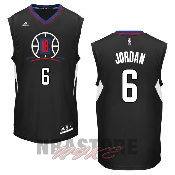 Maglia NBA Los Angeles Clippers NO.6 DeAndre Jordan Nero