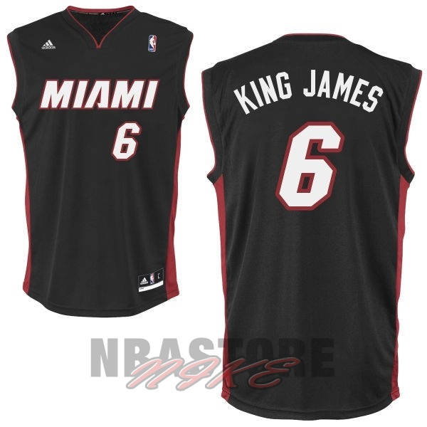 Maglia NBA Miami Heat NO.6 King James Nero