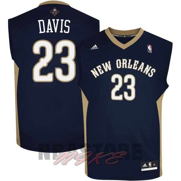 Maglia NBA New Orleans Pelicans NO.23 Anthony Davis Nero
