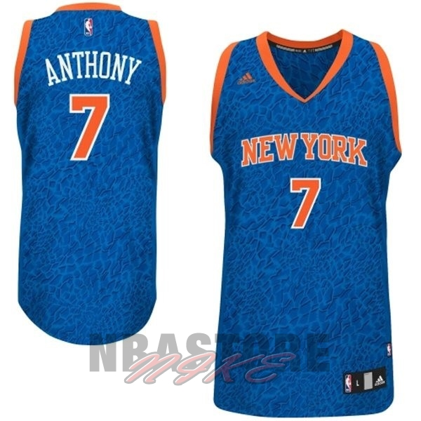 Maglia NBA New York Knicks Luce Leopard NO.7 Anthony Blu