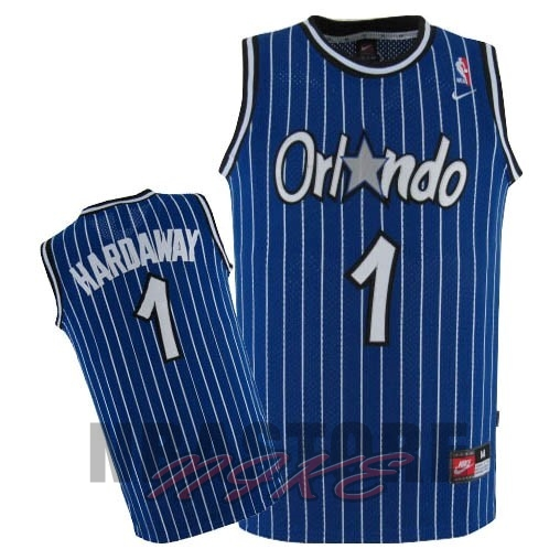 Maglia NBA Orlando Magic NO.1 Anfernee Hardaway Blu